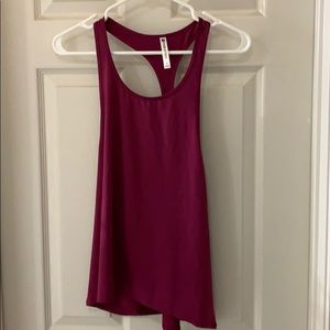 Fabletics new never worn dark pink tank